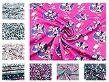 Disney-Minnie Mouse-Stoff auf Baumwoll-Jersey in pink aus