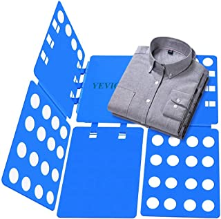 YEVIOR Clothes Folding Board Adult Size Adjustable T-Shirt Clothes Easy Laundry Folder Organize Board Blue
