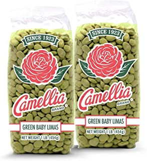 Camellia Brand Dry Green Baby Lima Beans, 1 Pound (Pack of 2)