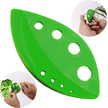 Best Herb Stripper Gadget Leaf Remover, Chard, Collard Greens, Parsley, Basil, Rosemary Herb, Taragon, Thyme with Plastic Edge Shear Knife, Best Herb Stripping Tool BY Dvcline
