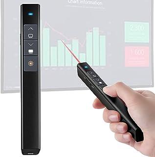 【Version améliorée】VicTsing Pointeur Laser Powerpoint Sans Fil 2.4GHz USB 100M, Télécommande de présentation PowerPoint Cl...