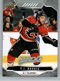 2019-20 Upper Deck MVP #173 T.J. Brodie NM-MT Calgary Flames Hockey