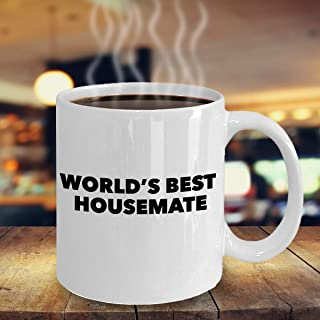 World's Best Housemate Coffee Mug – Funny Apartment Flatmate Gift – Perfect Birthday Christmas Gift Idea for Roommate – Coffee Lover Roomie