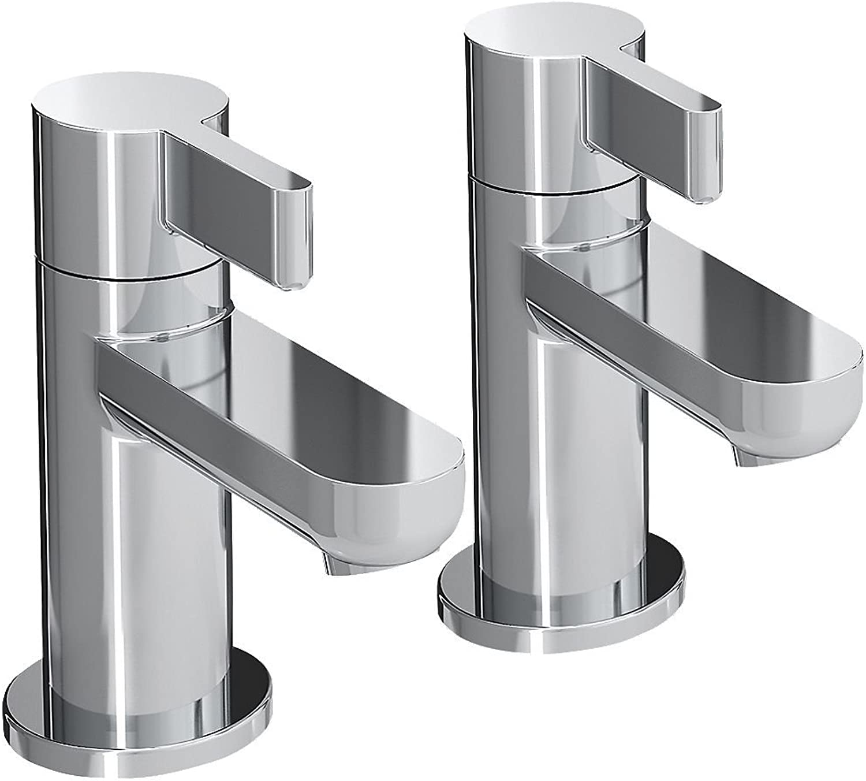 Bristan Clio Bath Pillar Taps Pair