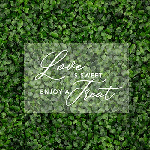 Andaz Press Love is Sweet, Enjoy A Treat Acrylic Sign, Stand Included, 7.5 x 11 Inch, Wedding, Dessert Candy Bar Table, Bridal Shower, Bachelorette, Engagement, Anniversary, Backdrop