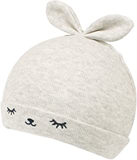 KASULAR Newborn Hat Baby Boys Girls Beanies 0-4Months Squinting Rabbit Ears