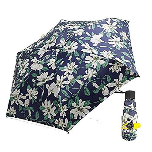 Royanney 日傘 軽量 uvカット 100 遮光 折りたたみ コンパクト 晴雨兼用傘 完全遮光 サンバリア 折りたたみ傘 花柄
