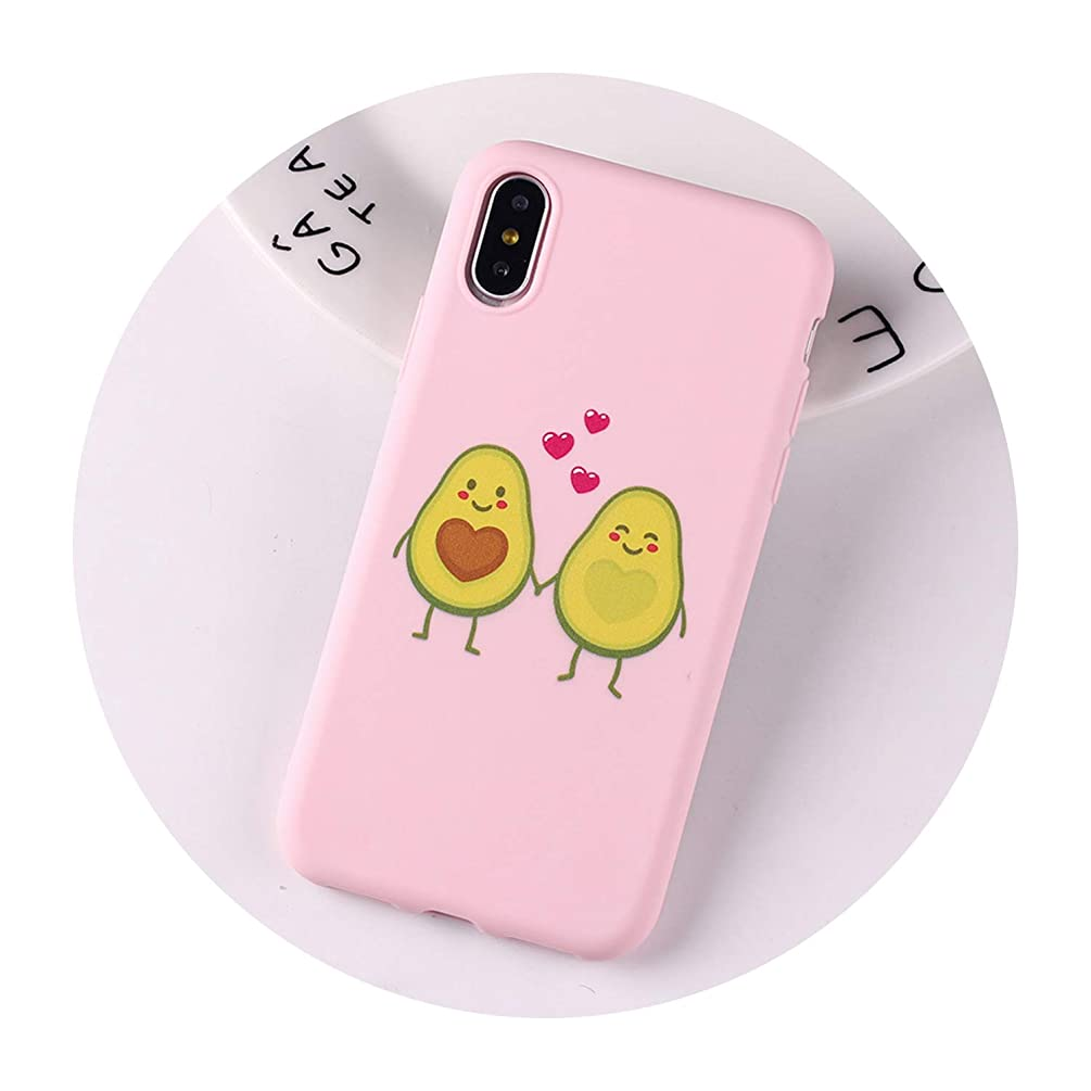 Phone Case for iPhone 6 6S 5S SE 8 8Plus X 7 7Plus XS Max Love Heart Funny Tropical Girls Soft Silicone Candy Case Capa,13,for iPhone 7 8