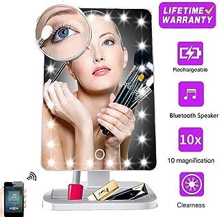 bluetooth led makeup mirror