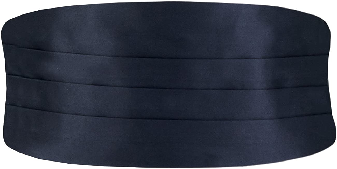 Dobell Mens Navy Cummerbund Regular Fit (28-42in)