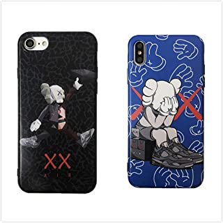 Street Fashion Protective Case KAWS Soft Skin for iPhone by Apple Fashion Sneaker Shoeboxes KAWS Hype for Trending Sneakers Air Fourth Generation (Black, iPhone 11 Pro Max)
