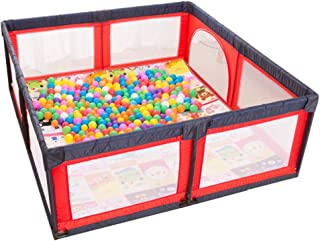 WJSW Adorable Safety Play Center Yard Infants Baby Safe Play Pen Portable Playard Indoor and Outdoor Kids Activity Center for Playroom  amp  Nursery Play Gym Non-Slip Odors  180x190x70cm