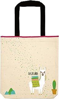 moses. moses. Shopper Lama | Tragetasche aus 100% Baumwolle Natur Tote da palestra, 42 cm, Avorio (Natur)