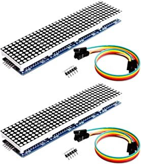 Onyehn 2pcs/Lots MAX7219 Dot Matrix Module 4 in 1 Display (Christmas Decoration DIY Letters Electronic Display) for Arduino Microcontroller with 5Pin Line