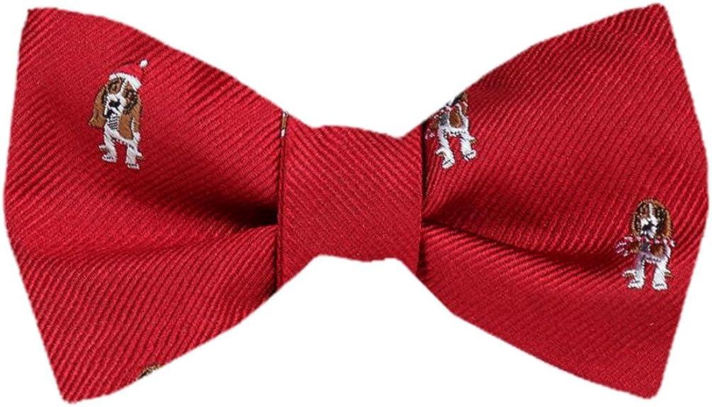 FBTZ-1542 - Men's Silk Self Tie Bowtie Tie Yourself Bow Ties