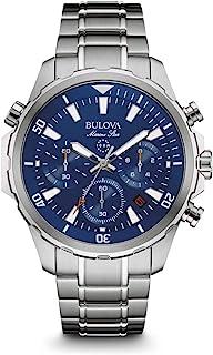 Bulova - Marine Star - Reloj Deportivo de Diseño para Hombre, Función de cronógrafo, Correa de goma , Acero inoxidable, Resistente al Agua