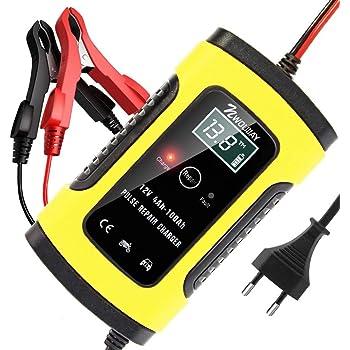JIAOO Autobatterie Ladeger/ät 6V 2A 12V 6A 24V 3A Volt Motorrad batterieladeger/ät Mit Fahrzeugmodus/&Reparaturmodus