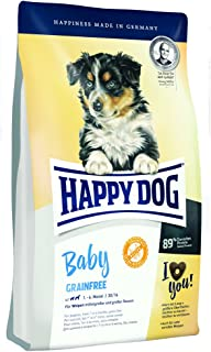 HAPPY DOG (ハッピードッグ) ベビー グレインフリー (穀物不使用) 全犬種 特にデリケートな成長期の子犬のための総合栄養食 (1kg)