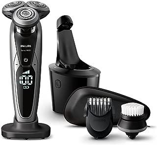 フィリップス 9000シリーズ メンズ 電気シェーバー 72枚刃 回転式 お風呂剃り & 丸洗い可 トリマー・洗顔ブラシ・洗浄充電器付 S9731/33