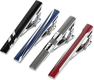 Tie Clips for Men Wedding Business Classic Tie Bar Clip Set