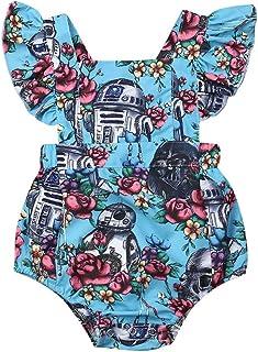 JRPONY Baby Girl Dress Newborn Romper Floral Ruffle Princess Tutu Dress Summer