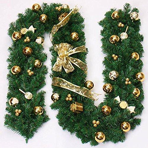 GYH Rotin de Noël - Décorations de Noël 270cm Emballage Cadeau Rotin de décoration de Noël, Quatre Couleurs en Option /& (Couleur : A)