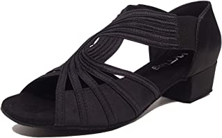 Low Heel Women Ballroom Dance Shoes Salsa Batchata Social Beginner Practice Wedding Dancing 1.5in Heels YT04