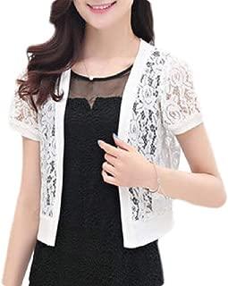 FSSE Women Short Sleeve Summer Lace Bolero Cardigan Crop Jacket