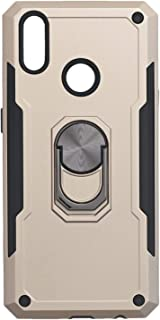 Iron Man Hard Back Cover With Metal Ring And Kickstand For Oppo Realme 3 Pro - Gold Black