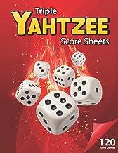 Triple Yahtzee Score Sheets: 120 Score Games Large Yahtzee Score Sheets For Scorekeeping. This Large Print Yahtzee Score C...