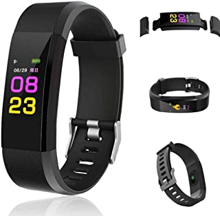 Dethler Smart Wristband with Heart Rate Monitor/Sleep Quality Monitor/Steps Counter/GPS Tracker and More, Smart Wristband Watch for Android and iOS Clips, Arm & Wristbands