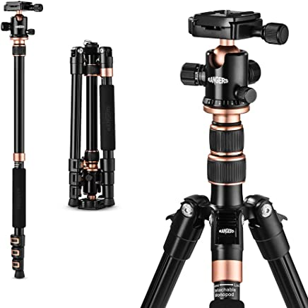 """TYCKA 55"""" Ultra Compact and Lightweight Aluminum Tripod with 360° Panorama Ball head, ideal for travel and work"""