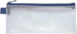 セキセイ マルチケース アゾン メッシュケース ペンケースサイズ ブルー AZ-136E-10