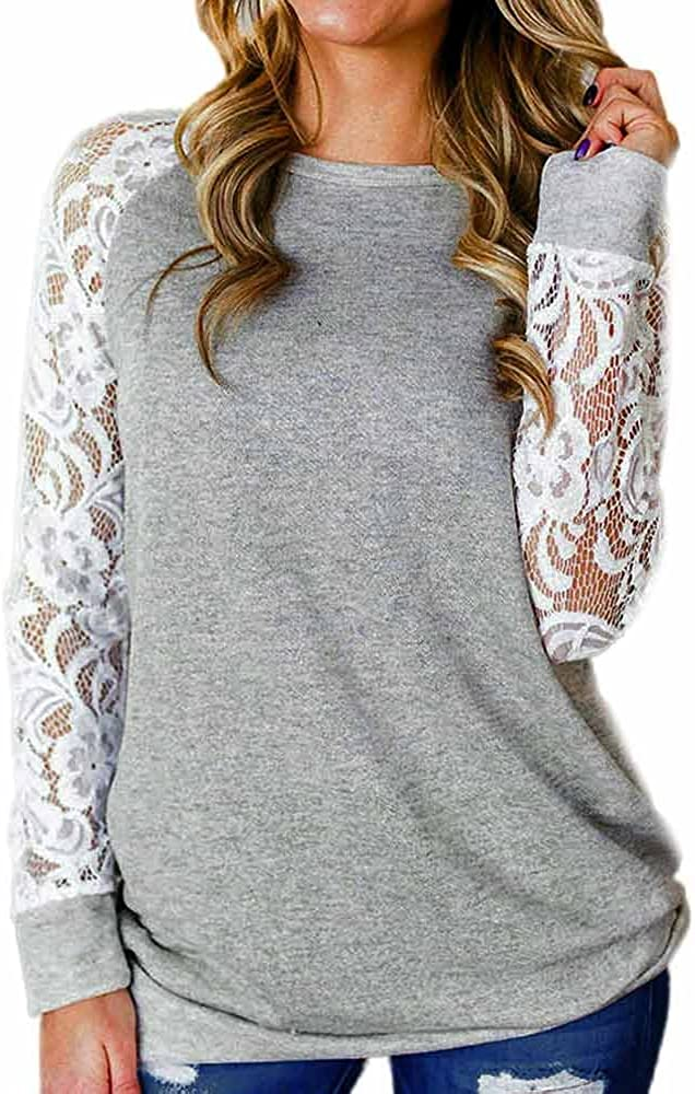 Vedolay Tops for Women Sexy, WomensPetite Slim Fit Mesh Long Sleeve 3D Embroidered Floral Blouse Shirt Top