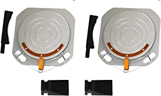 Pair Wheel Alignment Turntable Turn Plates 10,000 Pounds Capacity w/Transition Bridge and Thrust Block