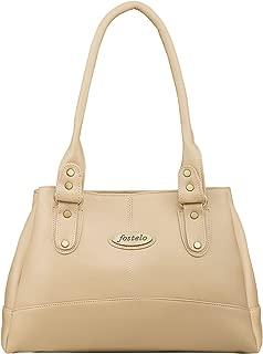 Fostelo Women's Elite Handbag (Beige) (FSB-737)