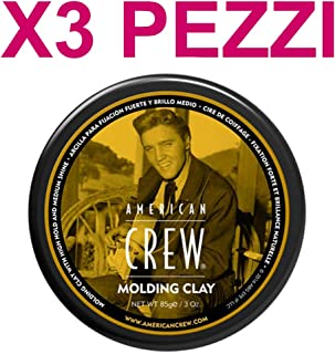 AMERICAN CREW by American Crew MOLDING CLAY 3 OZ (Package of 3) by American Crew