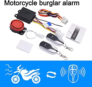 Toyecota - 12V Motorcycle Alarm Device Anti-theft Alarm Protection Double Remote Control Scooter Safety Motor Bike Alarm System