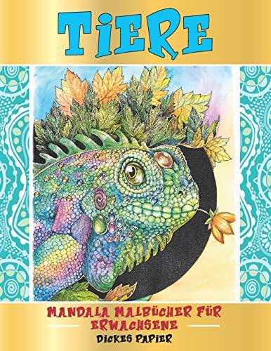 Mandala Malbücher für Erwachsene - Dickes Papier - Tiere