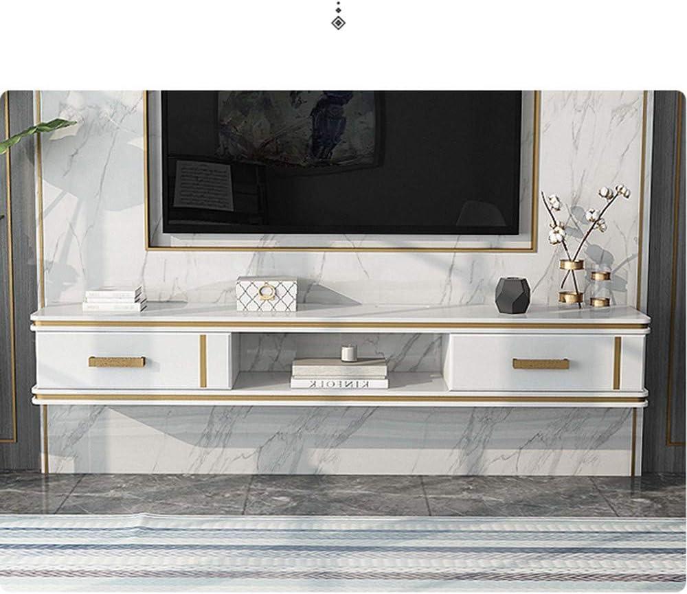120cm /étag/ère de fond pour lecteur DVD//Blu-ray mural /étag/ère de rangement pour d/écoration murale de chambre /à coucher//blanc Meuble TV mural /à/étag/ère flottante