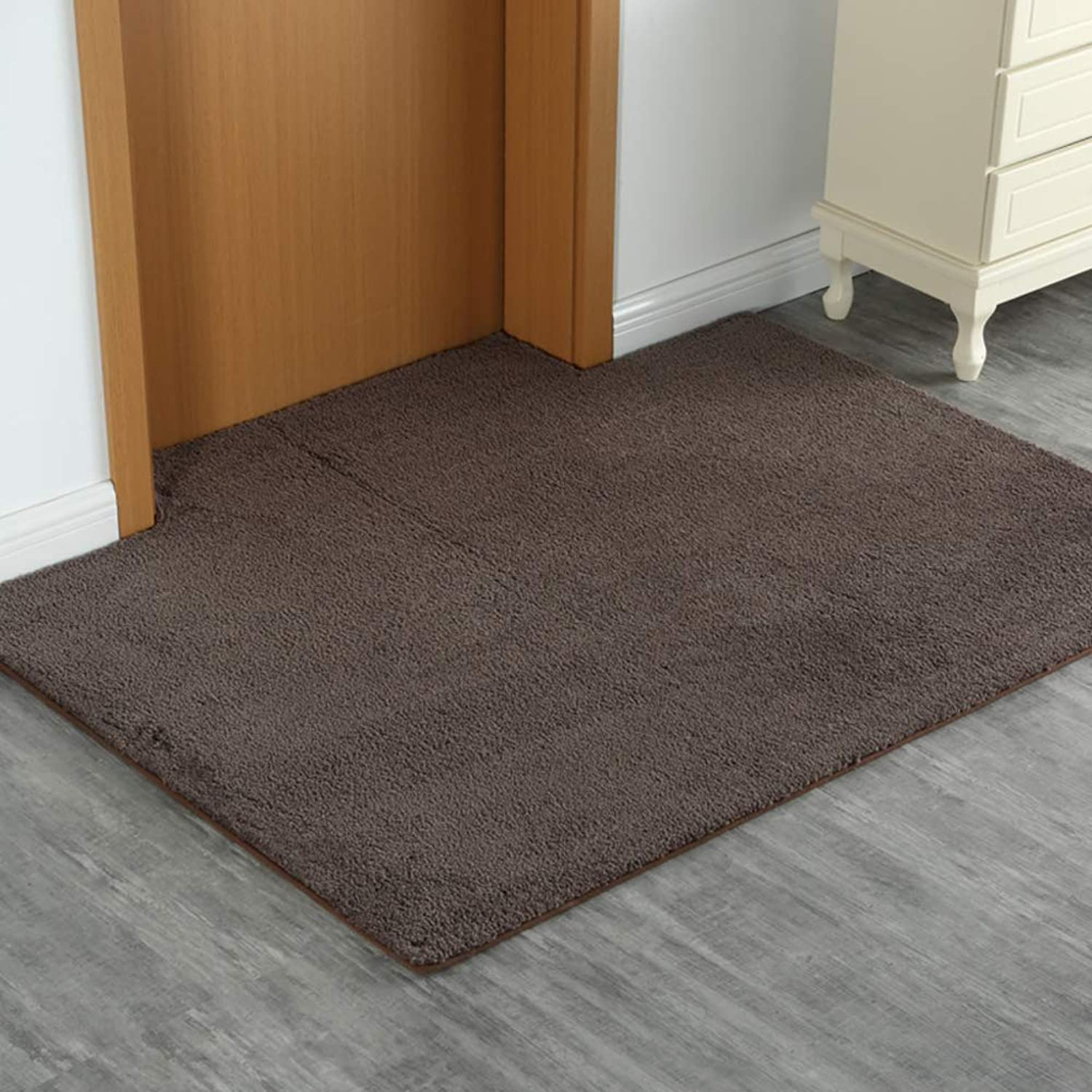 Doormat,Door Non-Slip mat Household Durable Easy to Clean for The Door.-Brown 20x31inch