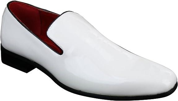 Homme Slip On Mocassins cuir verni Weave Pattern Conduite Chaussures Rétro Homme Chaussure