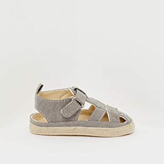 Espadrille Sandals with Hook and Loop Closure