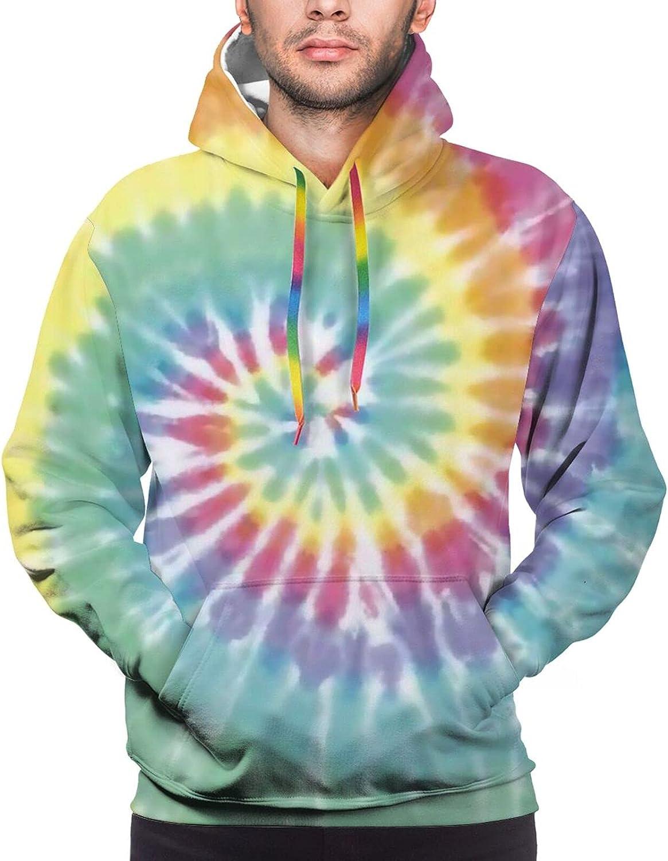 Hoodie For Mens Womens Teens Rainbow Swirl Ti-E D-Ye 3d Printed Hooded Sweatshirt