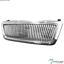 Topline Autopart Chrome Vertical Front Hood Bumper Grill...