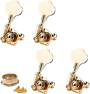 4-in-line Bass Vintage Open Gear Tuner Tuning Keys Pegs Machine Head Right Hand for Jazz P Bass Guitar Parts, Gold