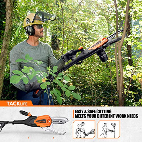 TACKLIFE Electric Chainsaw, 5 Amp 8-Inch JawSaw Chainsaw, 8.4 m/s Chain Speed, No Installation Required, Self-Lubrication, Oregon Chain
