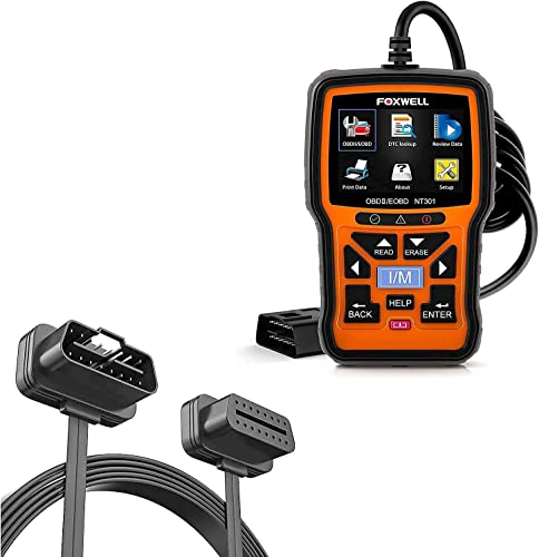 wholesale FOXWELL NT301 OBD2 Scanner with outlet sale OBD II 16Pin online Male to Female Extension Convert Cable online sale