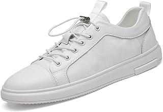 Zapatos casuales Zapatos deportivos para hombres, zapatos de cuero de moda de cuero y zapatos de sombrero, punta redonda y...