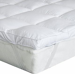 Bedecor Colchoncillos,Colchón de Microfibra,Suave,Transpirable,Blanco 90x200cm